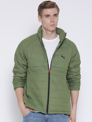 PUMA Olive Green Packable Padded Jacket