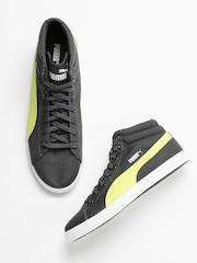 PUMA Unisex Grey Titan Canvas Mid DP Sneakers