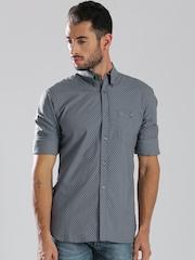 French Connection Grey Polka Dot Printed Casual Shirt