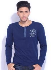 Lee Blue Henley T-shirt