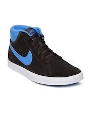 Nike Men Blue & Black Suede Casual Shoes