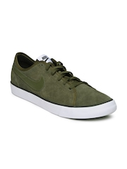 Nike Men Olive Green Suede Casual Shoes