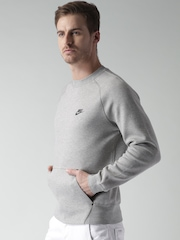 Nike Grey Melange AS Tech Crew Sweatshirt