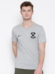 Nike Grey Melange AS Number Printed Football T-shirt