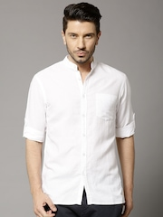 Marks & Spencer White Linen Casual Shirt