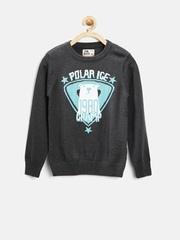 Flying Machine Boys Charcoal Grey Sweater