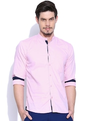 Slub Pink Casual Shirt