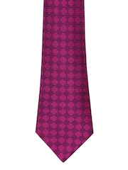 Peter England Statements Magenta Patterned Tie