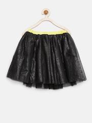 Allen Solly Junior Girls Black Shimmer Flared Skirt