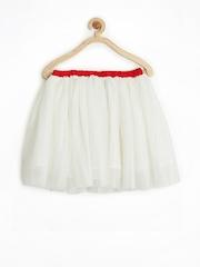 Allen Solly Junior Girls Off-White Shimmery Skirt