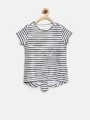 Allen Solly Junior Girls White Striped Top