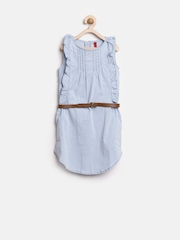 GJ Unltd Jeans by Gini & Jony Girls Blue Shift Dress