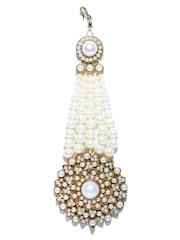 Zaveri Pearls White Beaded Jhoomar Passa