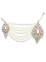 Zaveri Pearls Off-White Beaded Pasa