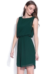 ONLY Green Layered Fit & Flare Dress