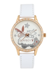 Playboy Women Cream-Coloured Dial Watch BPB-1006