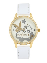 Playboy Women Cream-Coloured Dial Watch BPB-1006