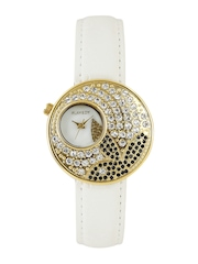 Playboy Women Pearly White Dial Watch PB-10743-F