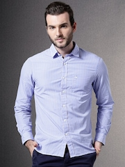 Brooks Brothers Blue Striped Casual Shirt