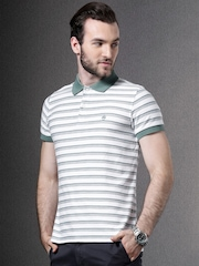 Brooks Brothers White Striped Polo T-shirt