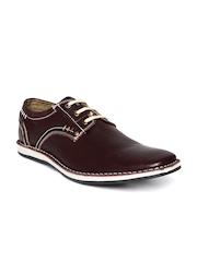 Buckaroo Men Maroon Leather Casual Shoes