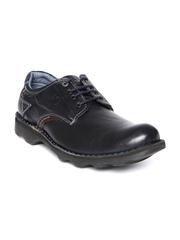 Buckaroo Men Navy Leather Casual Shoes