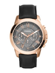 Fossil Men Gunmetal-Toned Dial Chronograph Watch FS5085I