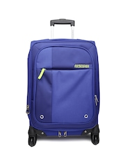 AMERICAN TOURISTER Unisex Blue Medium Trolley Suitcase