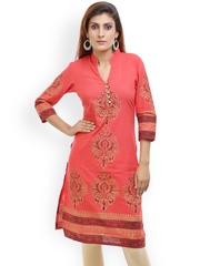 Aamii Red Printed Kurta