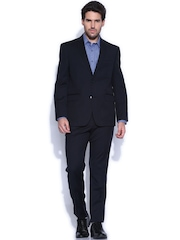 Theme Navy Single-Breasted Suit