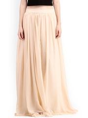 Cation Beige Maxi Skirt