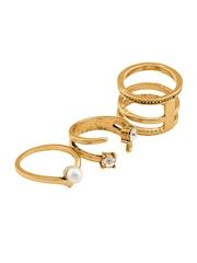 20Dresses Set of 3 Gold-Toned Rings