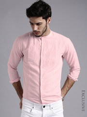 ether PINK ANTI MICROBIAL COTTON LINEN SHIRT