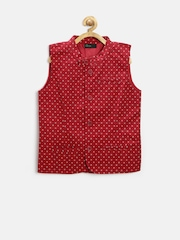 United Colors of Benetton Boys Red Printed Jacket