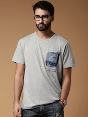 Mr. Bowerbird Grey Melange What Goes Around Comes Around T-shirt