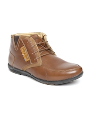 Red Chief Men Brown Leather Boots
