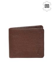 Woodland Men Brown Textured Genuine Leather Wallet