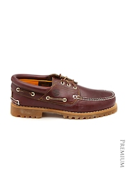 Timberland Men Burgundy 3 Eye Leather Casual Shoes