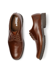 Timberland Men Brown Leather Derby Shoes