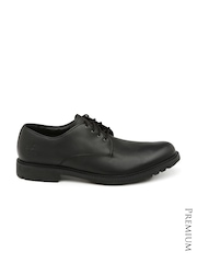 Timberland Men Black Leather Derby Shoes