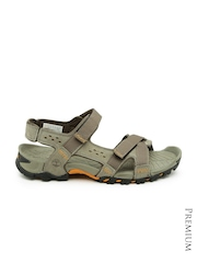 Timberland Men Grey Leather Sports Sandals