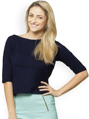 Miss Chase Navy Crop Top