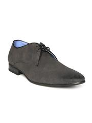 Bata Men Charcoal Grey Formal Shoes