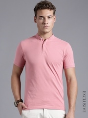 ETHER Pale Pink Slim Fit T-shirt