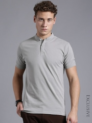 ETHER Grey Slim Fit T-shirt