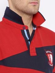 HARVARD Red & Navy Polo T-shirt