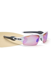 OAKLEY Men Half-Rim Mirrored Sports Sunglasses 0OO9295