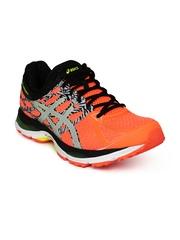 ASICS Men Orange & Grey Gel-Cumulus 17 Lite Show Running Shoes