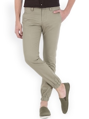 Basics Grey Casual Trousers