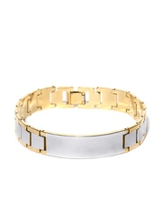 Sukkhi Men Gold & Rhodium-Plated Bracelet